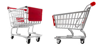 Shopping cart set isolated Stock Images