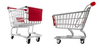 Shopping cart set isolated Stock Images