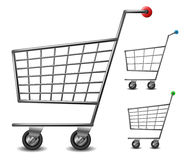 Shopping cart set Stock Photo