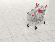 Shopping cart in shopping mall Stock Photography