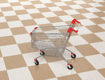 Shopping cart in shopping mall Royalty Free Stock Photo