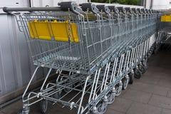 Shopping cart shopping trolley shopping business Stock Photography