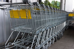 Shopping cart. shopping trolley shopping  business Stock Images