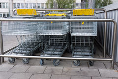 Shopping cart. shopping trolley shopping business Royalty Free Stock Photography