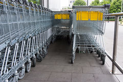 Shopping cart. shopping trolley, shopping  business Royalty Free Stock Image