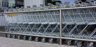 Shopping cart. shopping trolley, shopping, business Stock Photography