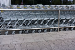 Shopping cart shopping trolley, shopping business concept Royalty Free Stock Images