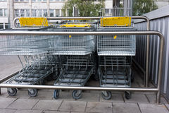 Shopping cart. shopping trolley  shopping  business Royalty Free Stock Images
