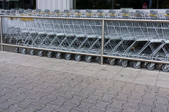 Shopping cart. shopping trolley  shopping, business Stock Images