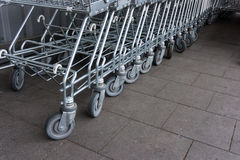 Shopping cart. shopping trolley shopping business Stock Photography