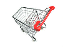Shopping cart shot from above Stock Photos
