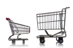 Shopping cart showdown Royalty Free Stock Images