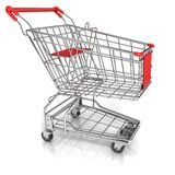 Shopping cart. Side view Royalty Free Stock Photo