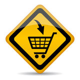 Shopping cart sign Royalty Free Stock Images