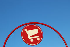 Shopping cart sign Stock Image