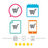 Shopping Cart sign icon. Online buying button. Stock Photography