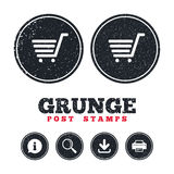 Shopping Cart sign icon. Online buying button. Royalty Free Stock Photos