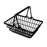 Shopping cart silhouette Stock Photo