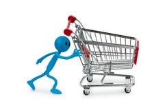 Shopping cart and smiley Stock Photos
