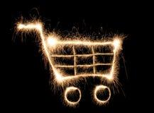 Shopping cart sparkler Stock Photo
