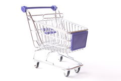 Shopping cart studio isolated Royalty Free Stock Image