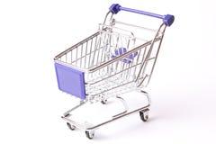 Shopping cart studio isolated Royalty Free Stock Images
