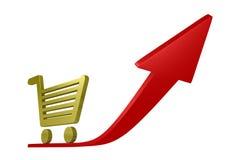 Shopping cart success Royalty Free Stock Photo