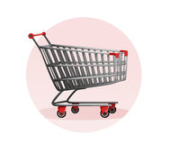 Shopping cart. Supermarket sale. mall. vector illustration. . Stock Image