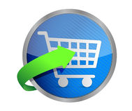 Shopping cart symbol Royalty Free Stock Photos