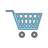 Shopping cart symbol Royalty Free Stock Images