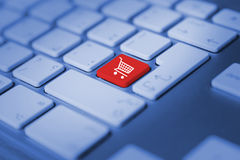 Shopping cart symbol Stock Photos