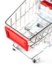 A shopping cart. Symbolic photo for purchasing power and consumption Royalty Free Stock Photo