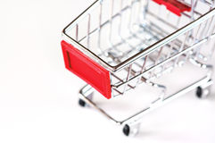 A shopping cart. Symbolic photo for purchasing power and consumption Stock Photos