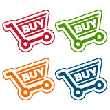 Shopping Cart Tags Royalty Free Stock Photo