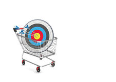 Shopping Cart Target Arrows Royalty Free Stock Photography