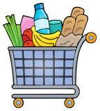 Shopping cart theme image 1 Stock Image