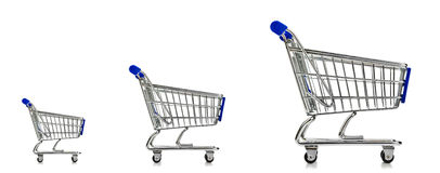 Shopping Cart Three Sizes Stock Photos