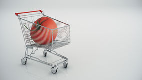 Shopping cart with tomatoes Stock Image