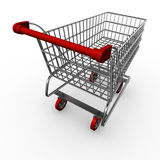 Shopping cart / trolley. Computer graphic image of a shopping cart / trolley Royalty Free Stock Photos