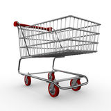 Shopping cart / trolley. Computer graphic image of a shopping cart / trolley Stock Image