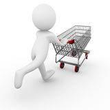 Shopping cart / trolley Royalty Free Stock Images