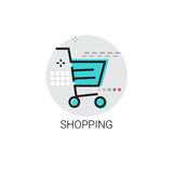 Shopping Cart Trolley Big Sale Icon Stock Photo