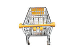 A shopping cart. Or trolley over white Royalty Free Stock Images