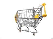 Shopping cart. A shopping cart or trolley over white Royalty Free Stock Photography