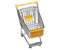 Shopping cart. A shopping cart or trolley over white Royalty Free Stock Images