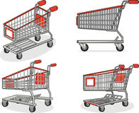 Shopping Cart or Trolley from Several Positions. A vector set of a shopping cart from several position. Available as a Vector in EPS8 format that can be scaled Stock Photography
