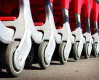 Shopping cart trolley wheel Stock Photo