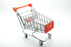 Shopping cart, trolley on white background Stock Images