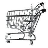 Shopping Cart Trolly Empty Isolated Royalty Free Stock Image