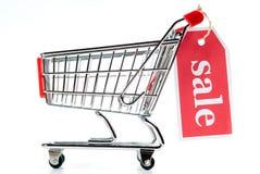 Shopping Cart V1 Sale. Shopping cart sale isolated on white background Royalty Free Stock Photography